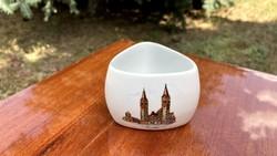 Aquincum porcelán szalvétatartó Szeged kis tartó tál