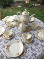Bavaria Elfenbein reggeliző, teás szett, készlet 9sz