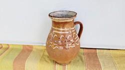 24 cm magas,régi kerámia szilke, köcsög , korsó, nosztalgia, paraszti dekoráció