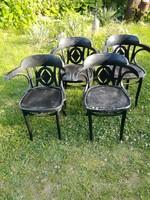 Thonet szék,garnitúra 4 db,fekete
