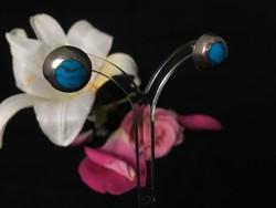 Mexikói ezüst ásványi ékszer, fülbevaló