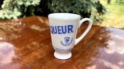 Becherovka retro likőrös pohár Karlovy Vary Czechoslovakia