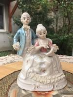 Barokk szobor pár, irizáló szobrocskák