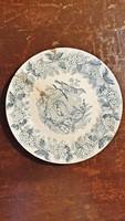 Több mint 100 éves, Fischer J. majolika tányér. gyűjtőknek.
