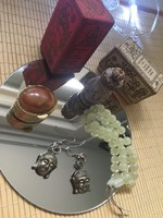 Keleti ékszerek és festékes tégely dobozokkal, buddhista & indiai szett