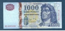2006 1000 Forint DE sorozat EF +