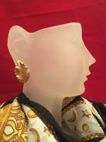 Arany színű falevél, levél különleges fülbevaló