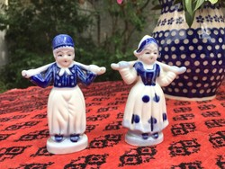 Japán porcelán figurák, pár, szobrocska (2)