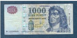 2011 1000 Forint DC sorozat