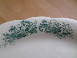 """Antik """"Flora"""" fajansz porcelán pecsenyés kínáló 30 x 41,5 cm"""