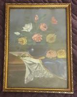 Rózsás csendélet festmény