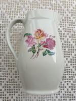 Régi Drasche Budapest porcelán rózsás kancsó vintage kiöntő vizes kancsó