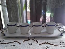Oepiag kávés csésze + karlsbadi tálca