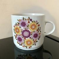 Alföldi porcelán tűzvirágos házgyári bögre, csésze