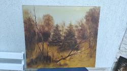 Feriencsik Àrpàd alkotás festmény, modern, festmény, Zsűrizett,az erdő sűrűjében,a mű címe