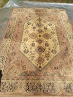 Old pink beige persian rug antique persian rug