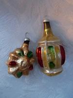 Régi karácsonyfa dísz 2 db