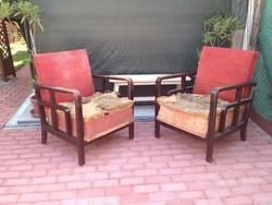 Különleges art deco fotelek