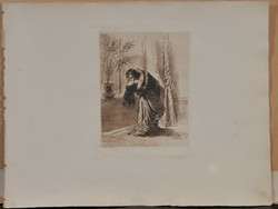 "Mihaly Zichy (1827-1906), a ""Liebe"" 11 erotikus heliogravűrája."