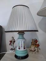 Bécsi monarchiás porcelán lámpa