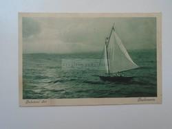 G2021.123   Képeslap  Balaton - Naplemente - vitorlás - 1927   Mihálcsik
