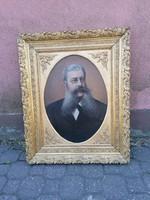 Biedermeier portré 60x80 olaj vászon festmény