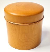 Fabulous antique round wooden box