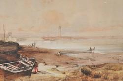 Eduard Hildebrandt (1817 / 18-1869) : Kikötői kilátás