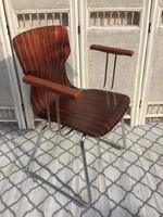 Jelzett flötotto design karos szék, midcentury, loft...
