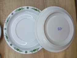 Alföldi porcelán zöld magyaros csészealj 6db