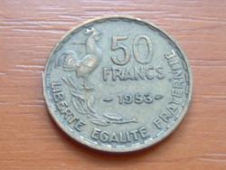 FRANCIA 50 FRANCS FRANK 1953 c. + szárny KAKAS 81-63% copper, 9-27% tin, 10% aluminium #