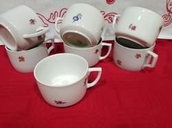 Zsolnay apró virágos pajzspecsétes csészék