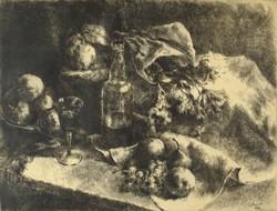 1F117 Kiss Terézia : Asztali csendélet 1958
