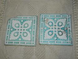 Antik Zsolnay csempe párban