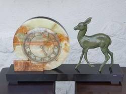 Art deco antik kandalló-, bútor-, asztali óra
