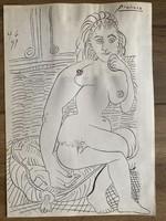 Pablo Picasso eredeti tanulmányrajz