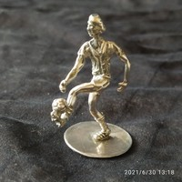 Ezüst focista miniatűr Mezszáma 11