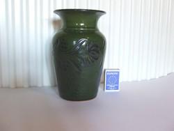 Régi, nagyobb méretű zöld mezőtúri váza