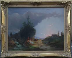 Carl Schweninger Senior (1818-1887) Szerelmi jelenet
