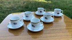 Hollóházi vitrin kávés készlet gyönyörű