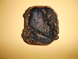 Antik bronz  súlyos névjegytartó tálka