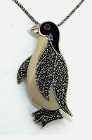 Édes sterling ezüst pingvines  medál/ bross  925  - új