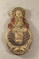 Petrás Mária mázas kerámia fali szobor 803