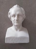 Alabástrom mellszobor - Goethe