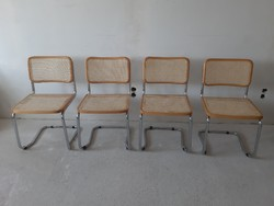 4 db nádszövetes szánkótalpas étkezőszék,szék.