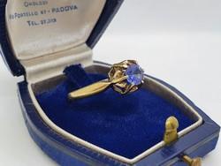 Tanzanit Köves Ezüst Gyűrű
