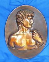 Retró fém falikép, 24 x 31,3 cm, valamilyen ötvözet.