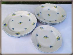 Victoria porcelán tányér készlet, hatalmas méretű mélytányérokkal