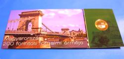 2009  -  200 Ft Érme (első napi veret) + 200 Ft Bankjeggyel - Sorszámozott díszcsomagolásban