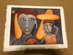 "László Felugossy (1947-) Worker Prize-winning painter ""mexikóóh'06"""